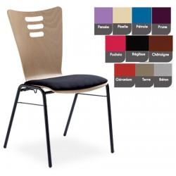 Option placet d assise tissu enduit M1 pour chaise coque bois Katie