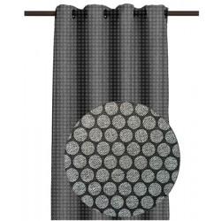 Rideau Dune imprimé frappé Gomettes Cendres 145 x 260 cm