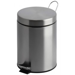 Lot de 2 poubelles à pédale inox mat 20 litres