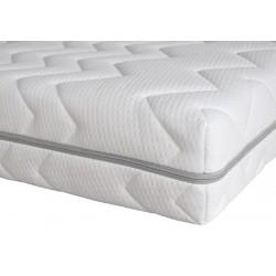 Housse de matelas polyester matelassé Nuage ép 16 cm 140x200 cm
